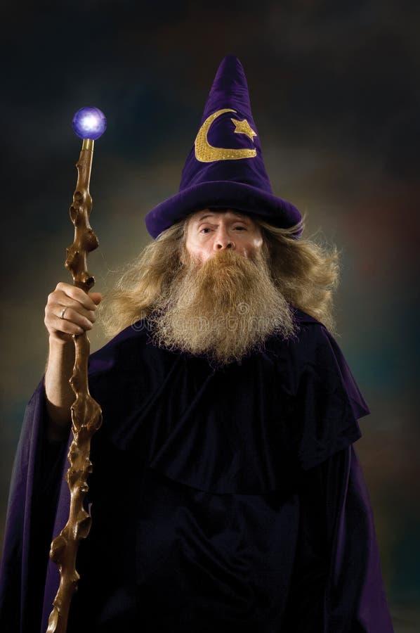 Retrato do feiticeiro imagem de stock royalty free