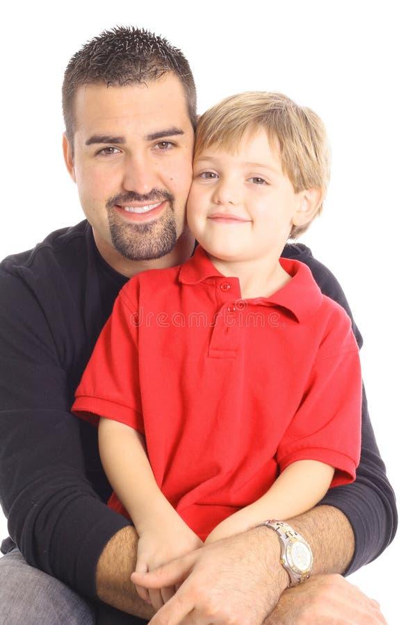 Retrato do filho do pai imagens de stock