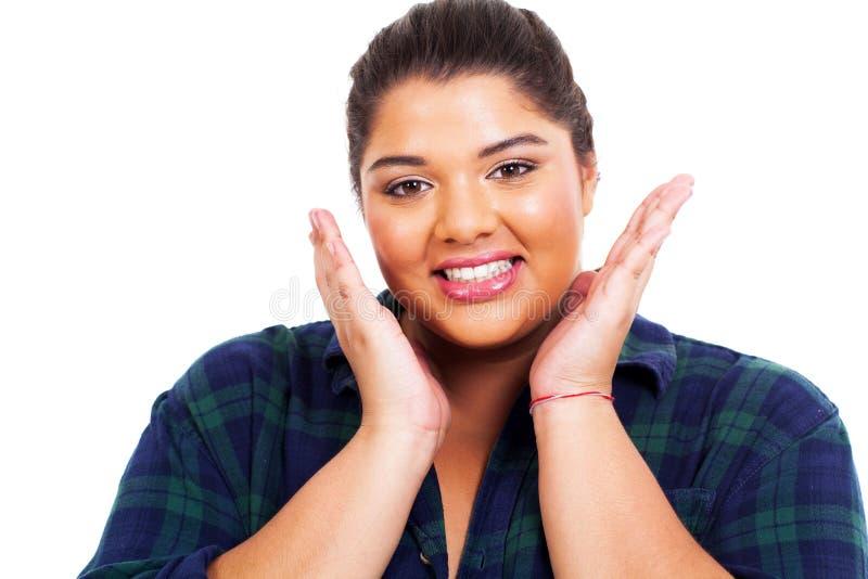 Beleza obeso da menina foto de stock