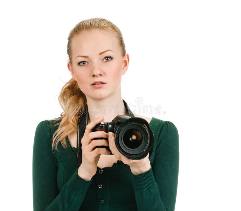 Retrato do fotógrafo da beleza fotos de stock