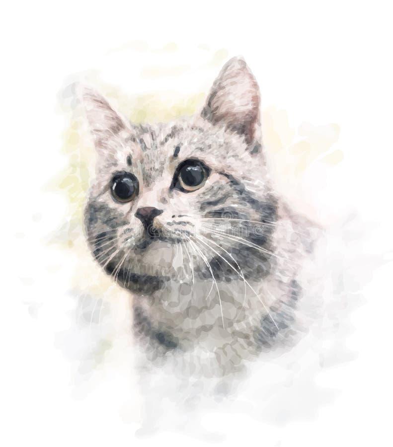 Retrato do gato ilustração royalty free