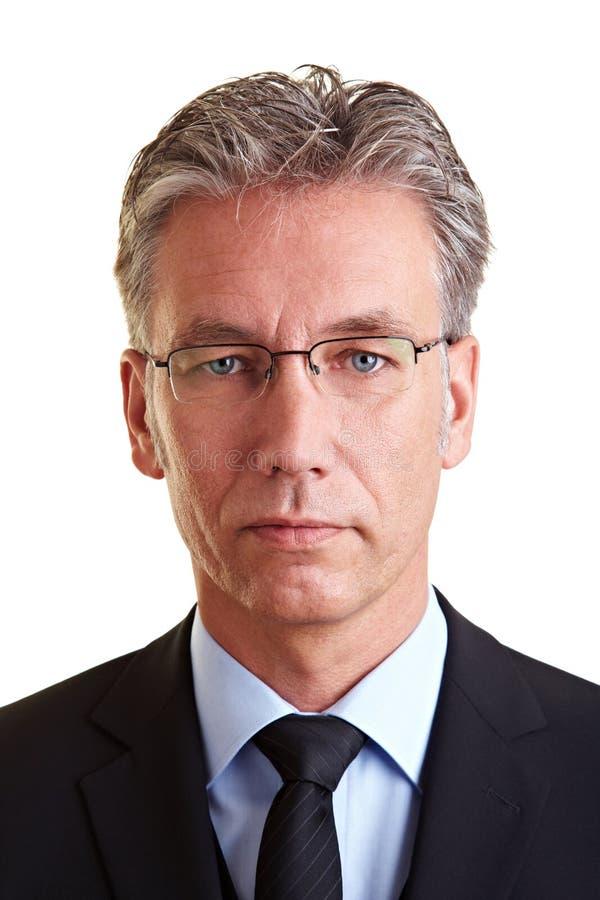 Retrato do gerente sério fotografia de stock royalty free