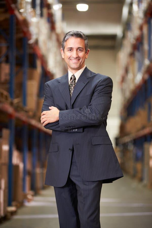 Retrato do gerente In Warehouse foto de stock