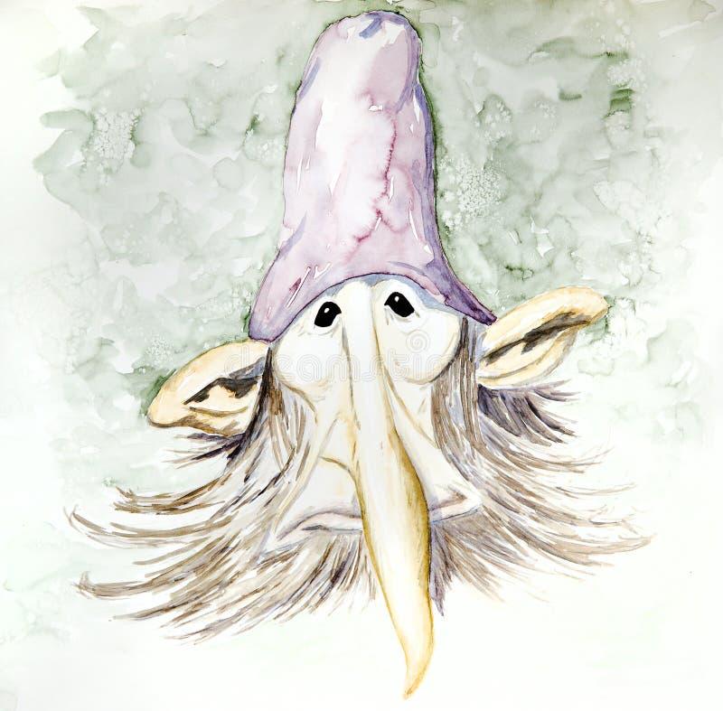Retrato do Gnome ilustração stock