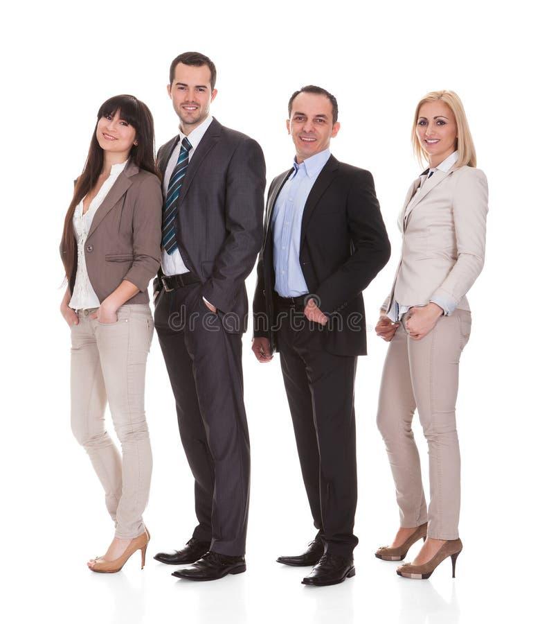 Retrato do grupo dos empresários fotos de stock royalty free