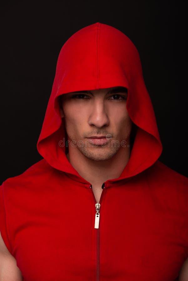 Retrato do halterofilista fotografia de stock
