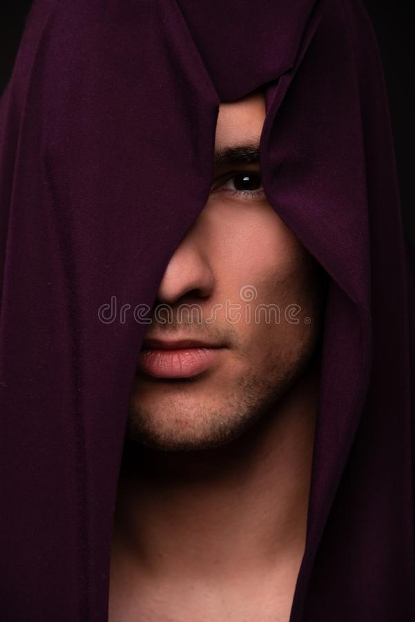 Retrato do halterofilista imagens de stock
