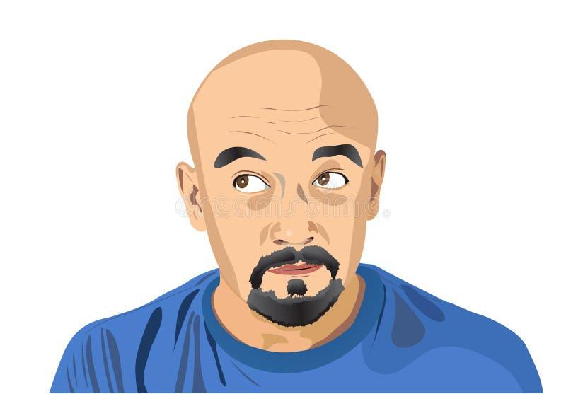 Retrato do homem ilustração do vetor