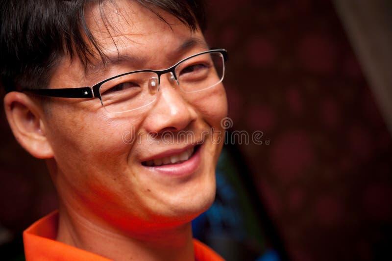 Retrato do homem asiático fotografia de stock