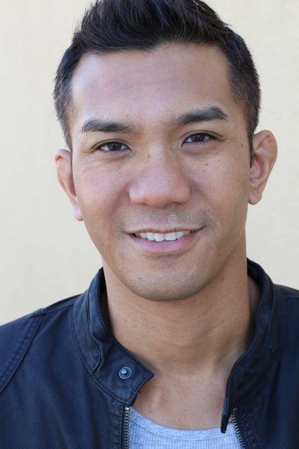 Retrato do homem asiático lindo imagem de stock