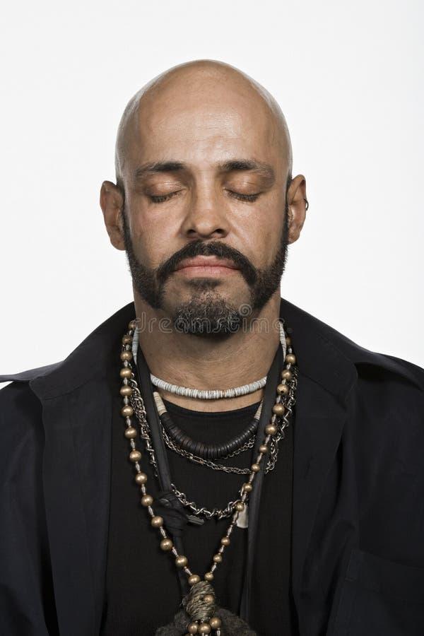 Retrato do homem caucasiano adulto maduro imagem de stock royalty free
