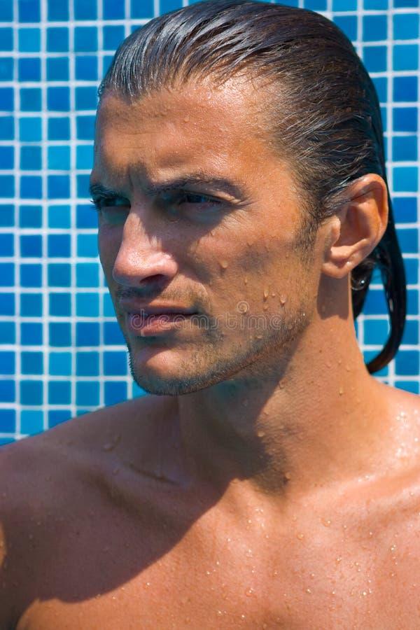 Retrato do homem considerável foto de stock royalty free