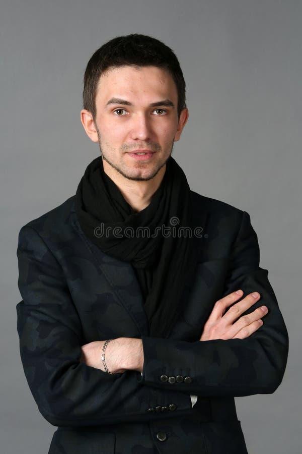 Retrato do homem considerável novo foto de stock