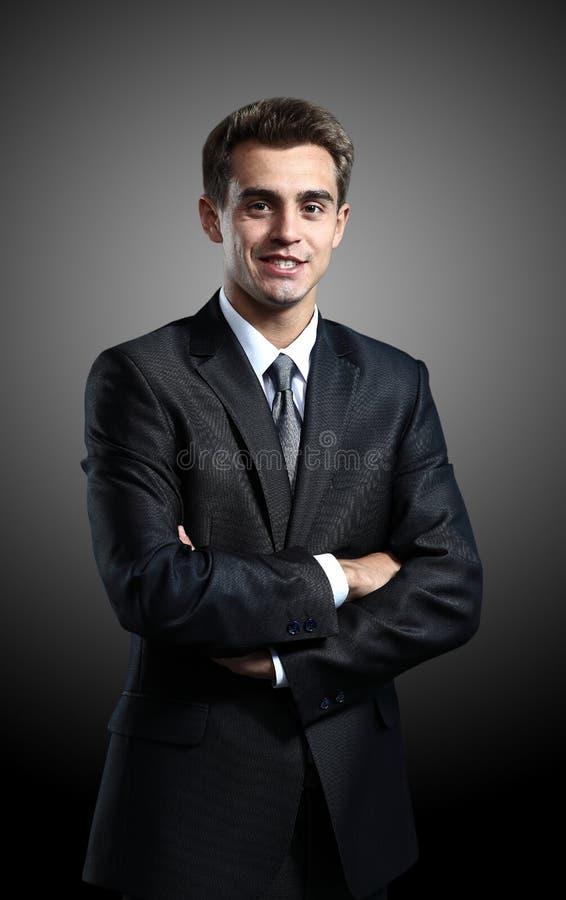 Retrato do homem de negócio bem sucedido imagem de stock royalty free