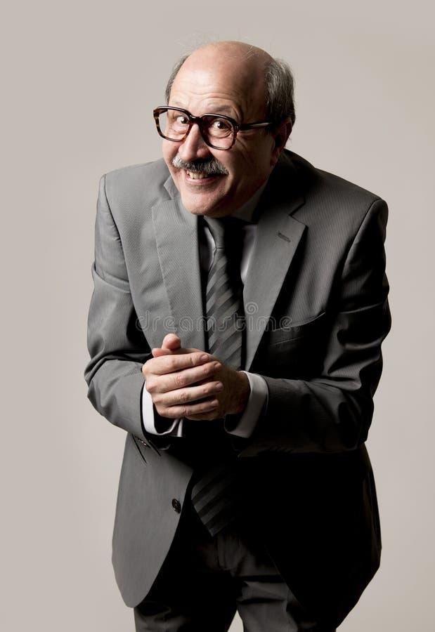 Retrato do homem de negócio maduro superior feliz e entusiasmado no seu fotografia de stock royalty free