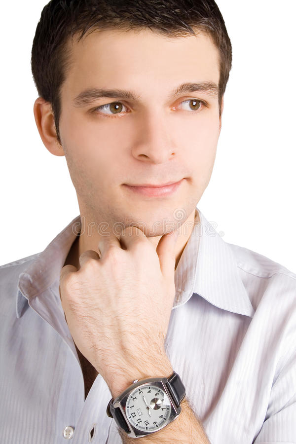 Retrato do homem de negócio novo considerável foto de stock