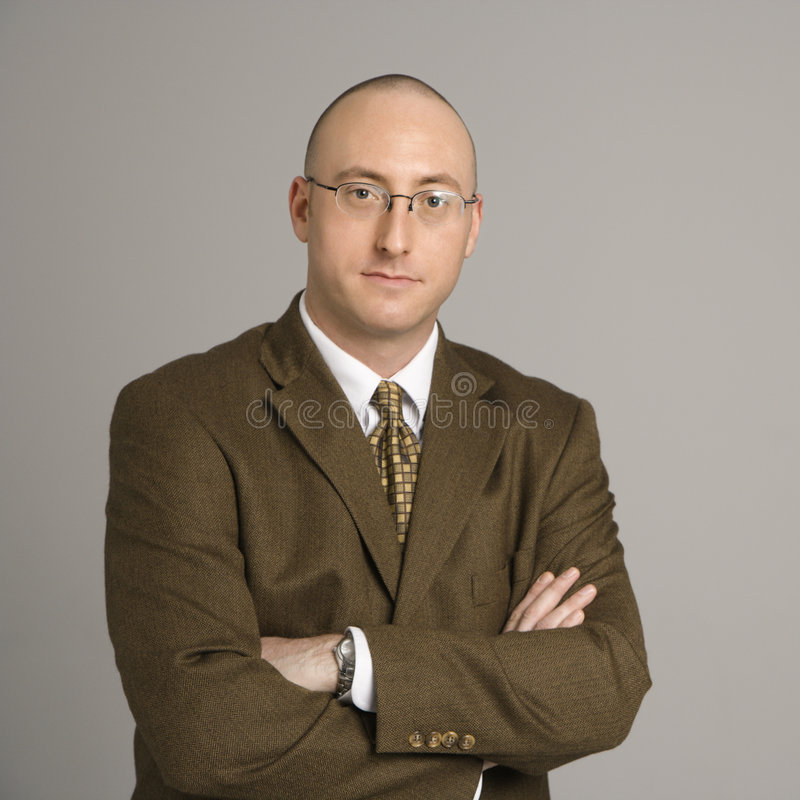 Retrato do homem de negócios. foto de stock