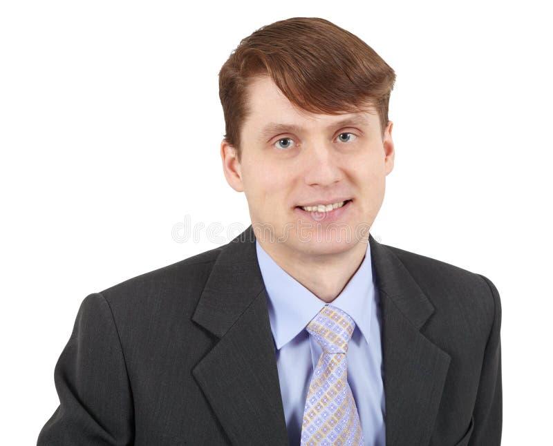 Retrato do homem de negócios bem sucedido novo de sorriso foto de stock