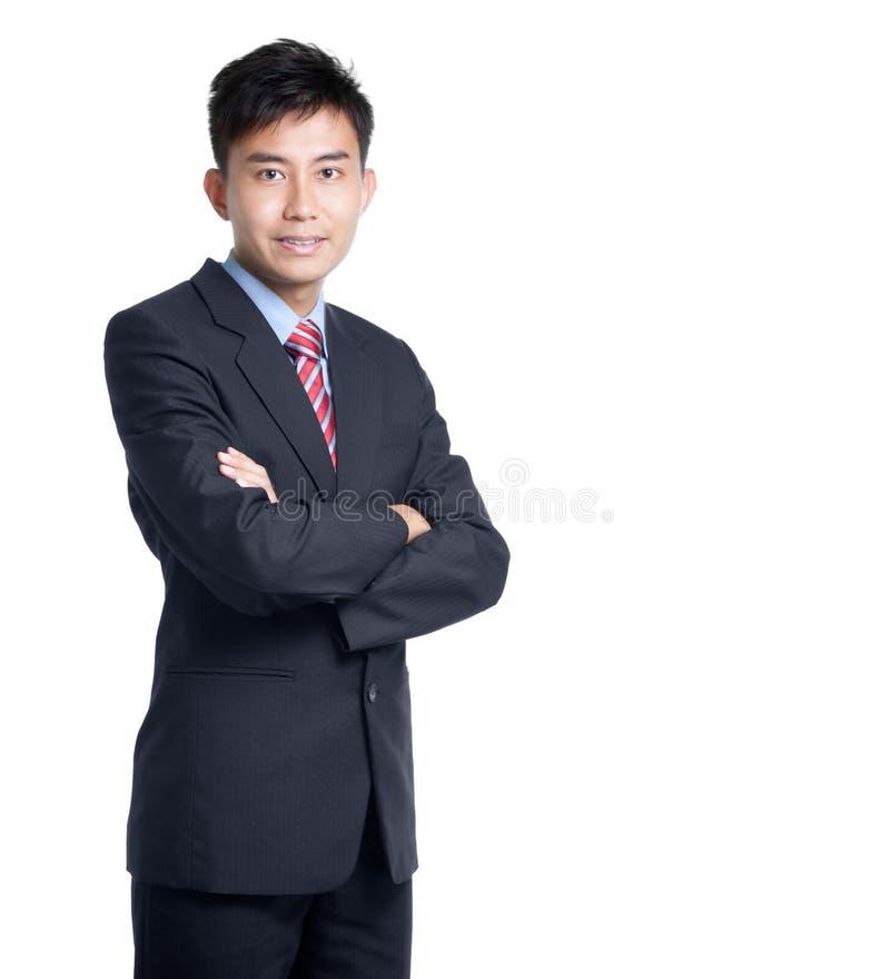 Retrato do homem de negócios chinês asiático fotografia de stock