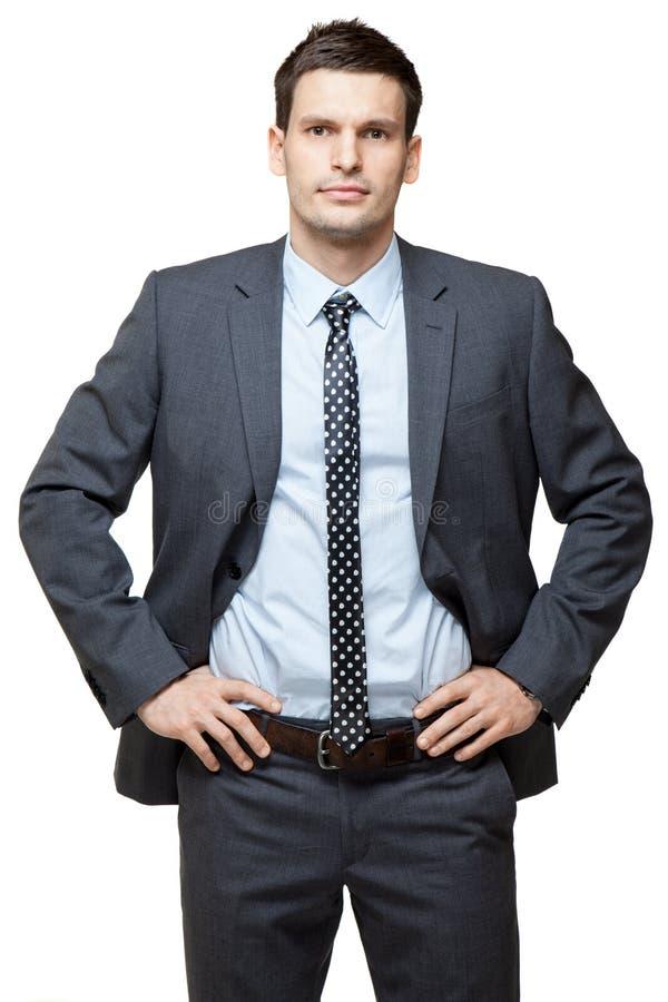 Retrato do homem de negócios considerável novo. fotos de stock royalty free