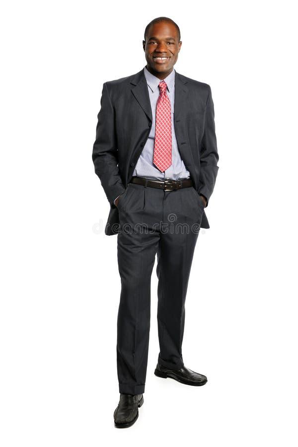Retrato do homem de negócios do americano africano imagens de stock royalty free