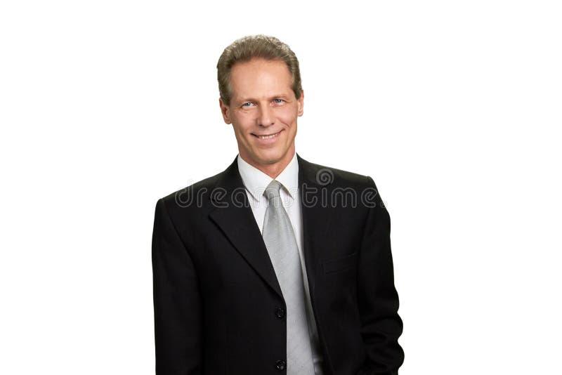 Retrato do homem de negócios maduro de sorriso fotografia de stock royalty free
