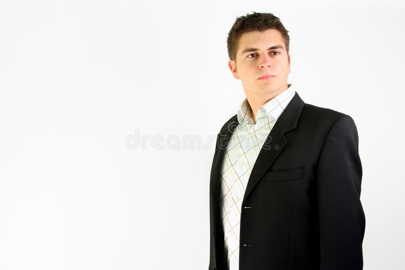 Retrato do homem de negócios novo foto de stock