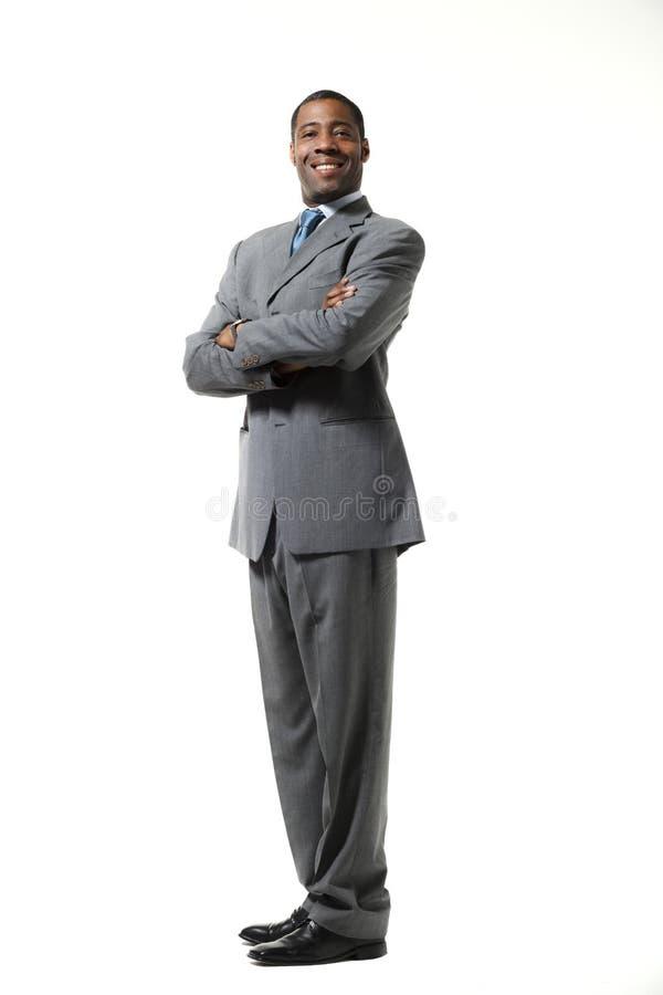 Retrato do homem de negócios preto fotografia de stock royalty free