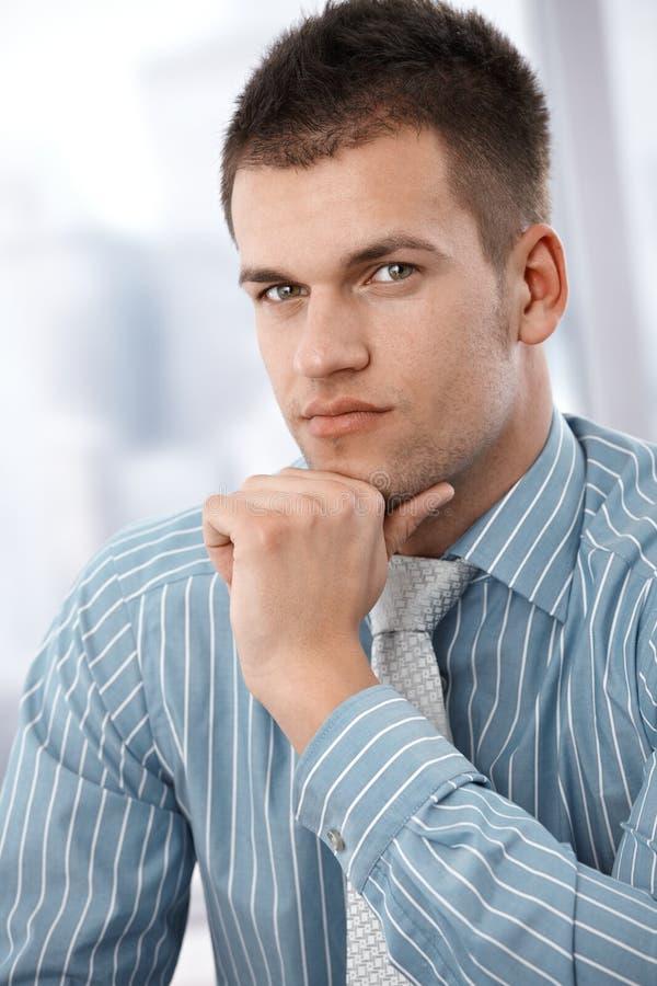 Retrato do homem de negócios sério fotos de stock royalty free