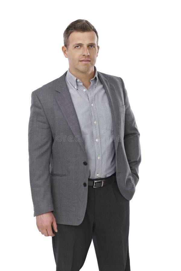 Retrato do homem de negócios sério imagens de stock