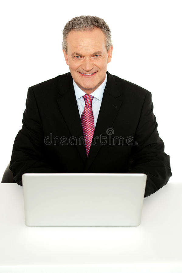 Retrato do homem de negócios sênior bem sucedido imagens de stock royalty free