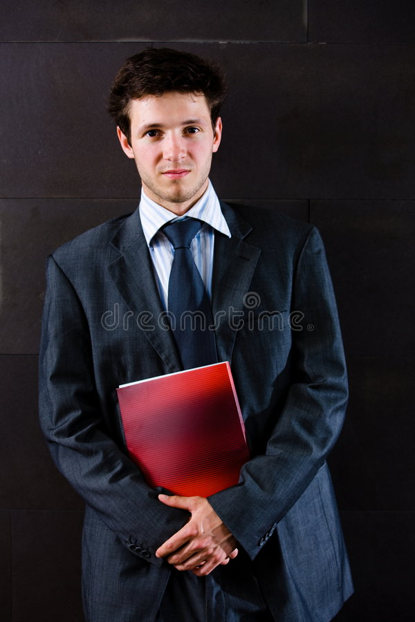 Retrato do homem de negócios satisfeito fotografia de stock royalty free