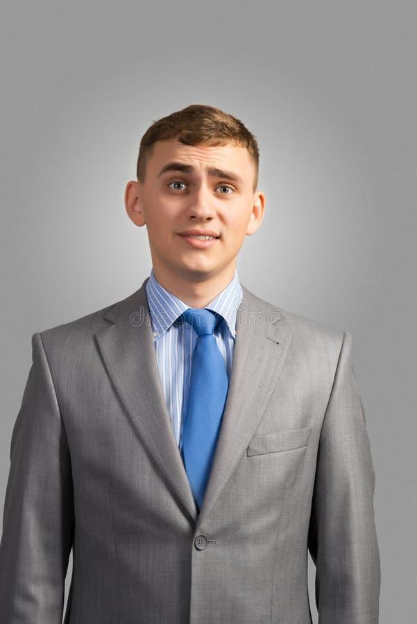 Retrato do homem de negócios triste imagens de stock