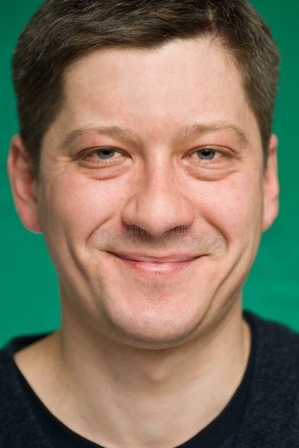 Retrato do homem de sorriso foto de stock royalty free