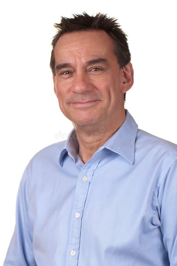 Retrato do homem de sorriso atrativo fotos de stock