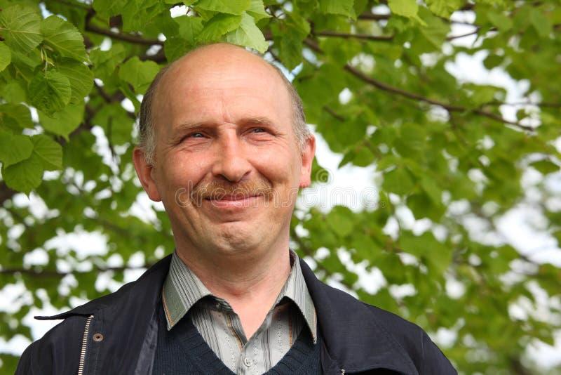 Retrato do homem de sorriso de meia idade imagens de stock royalty free