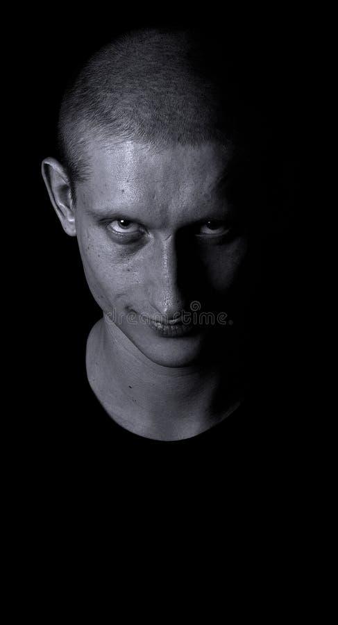 Retrato do homem dramático fotografia de stock