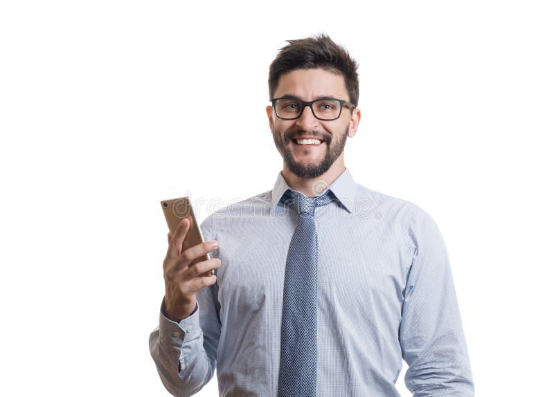 Retrato do homem farpado novo fotografia de stock