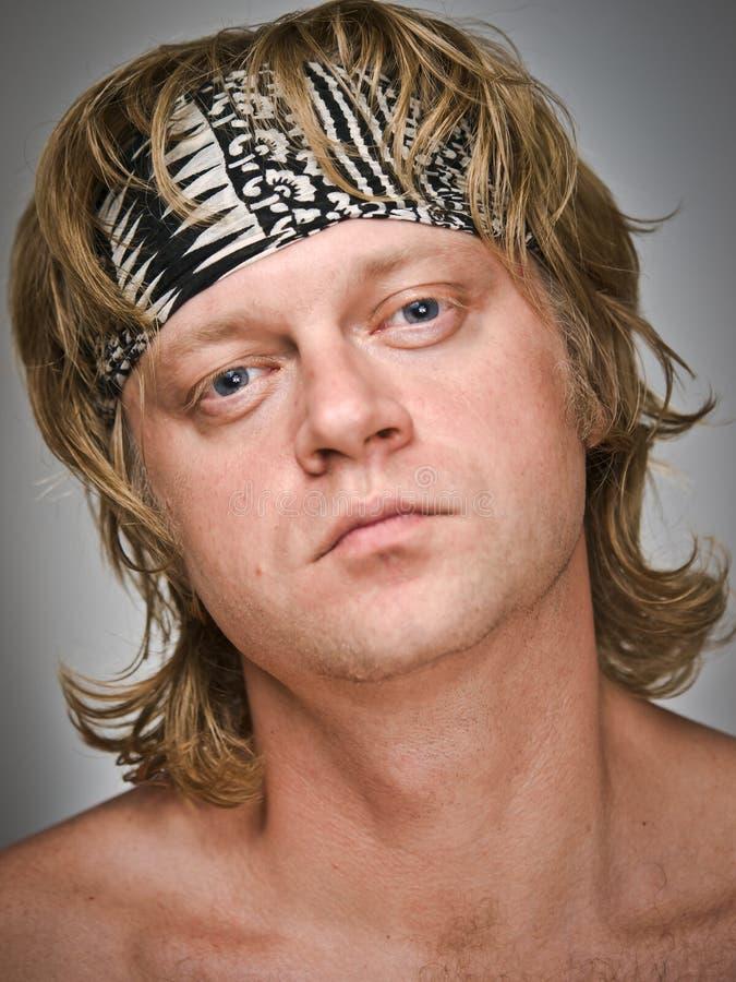 Retrato do homem Full-face fotos de stock