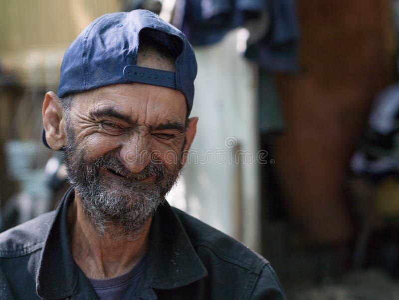 Retrato do homem idoso fotos de stock