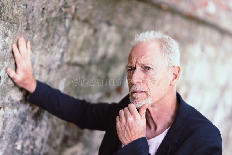 Retrato do homem maduro considerável foto de stock royalty free