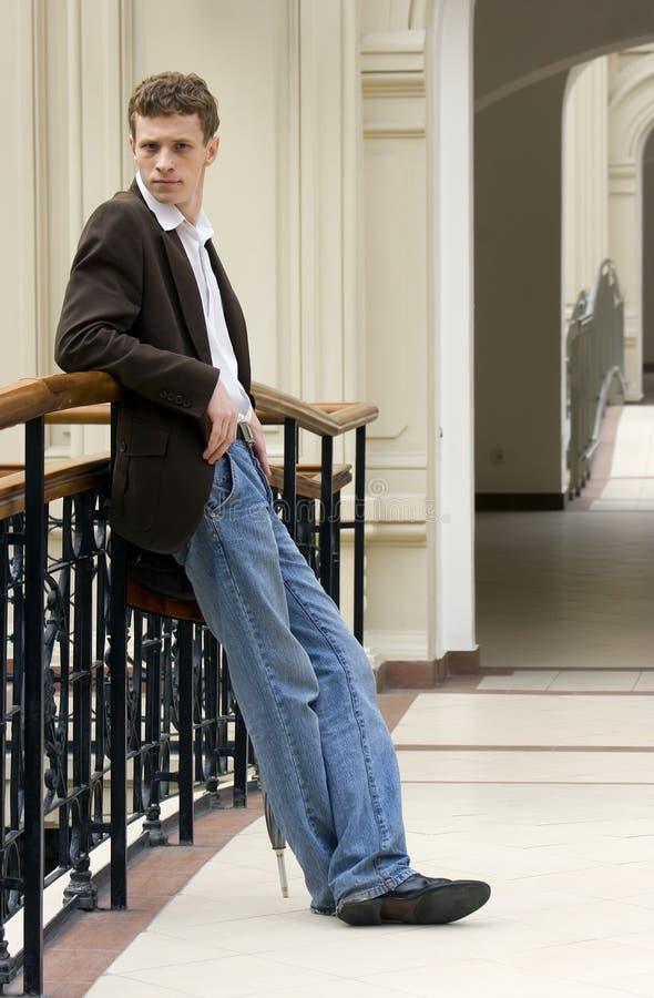 Retrato do homem novo foto de stock royalty free