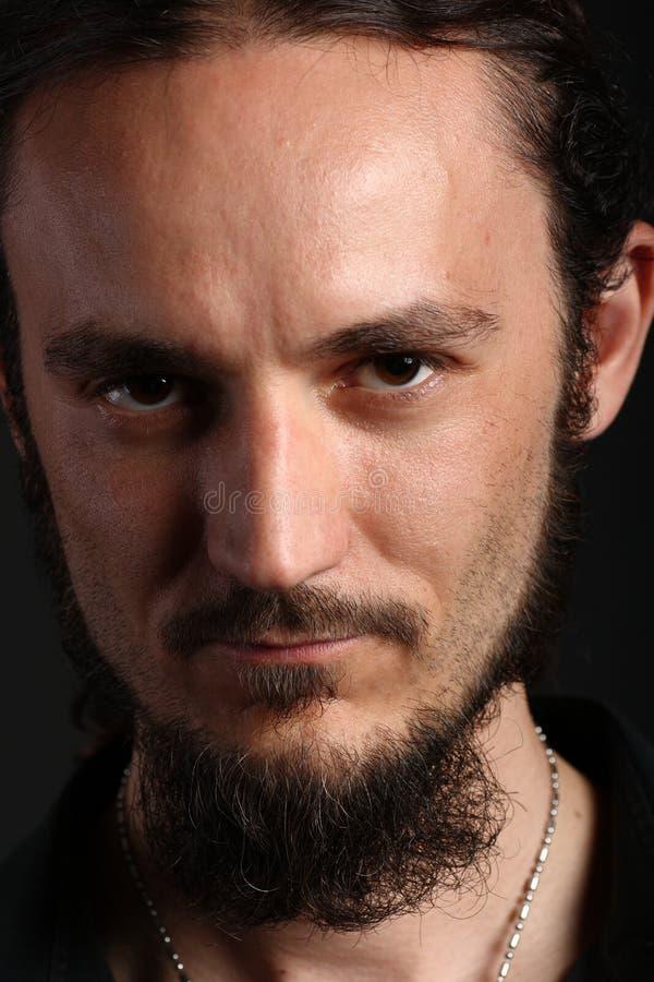 Retrato do homem novo com goatee fotos de stock royalty free