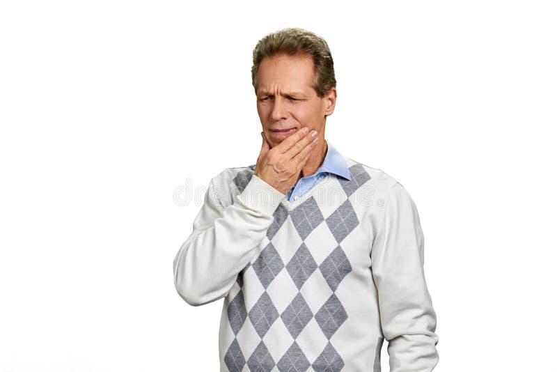 Retrato do homem que tem a dor de dente fotos de stock royalty free