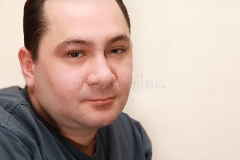 Retrato do homem quieto de meia idade imagens de stock royalty free