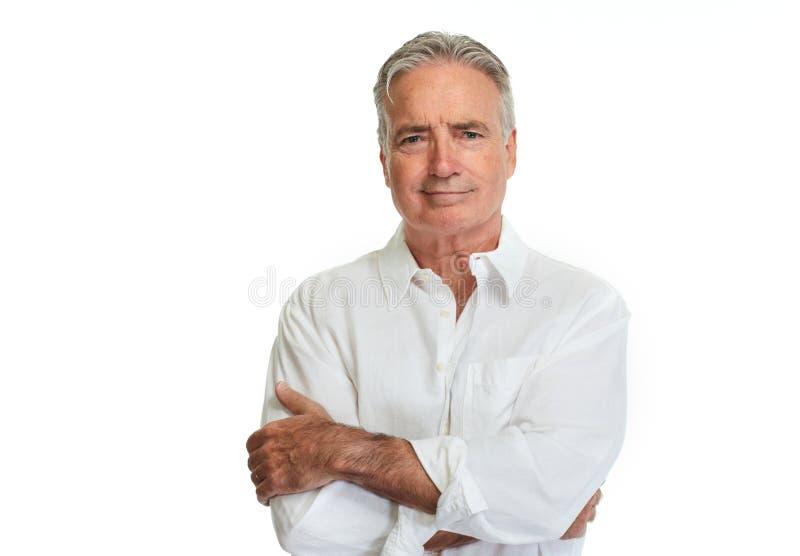 Retrato do homem sênior imagem de stock