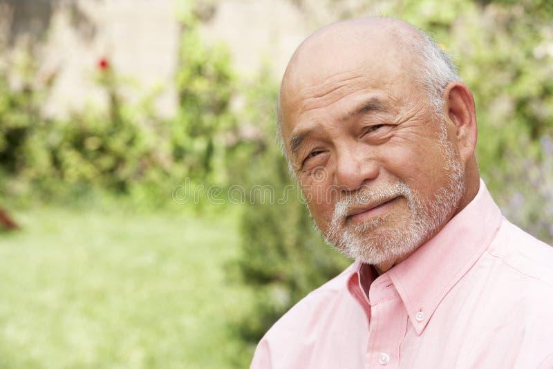 Retrato do homem sênior de sorriso imagem de stock royalty free