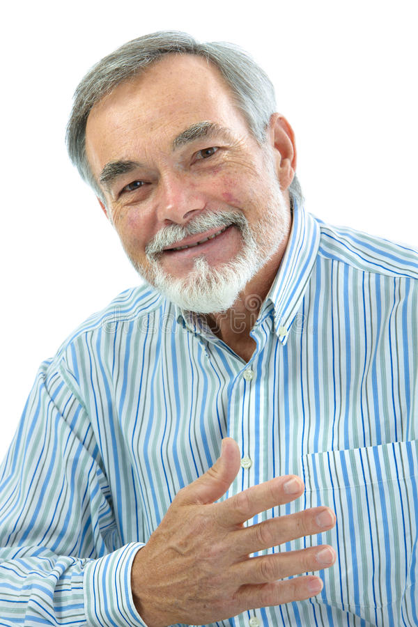 Retrato do homem superior considerável foto de stock