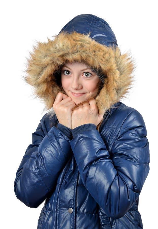 Retrato Do Inverno Da Menina Fotografia de Stock