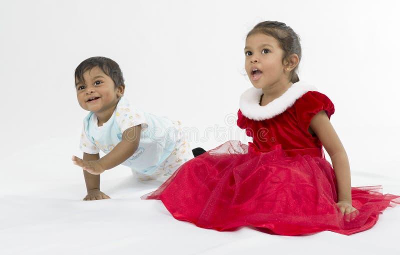 Retrato do irmão e da irmã. fotos de stock royalty free